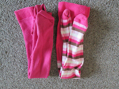 GIRLS TIGHTS x 2 PAIRS - AGE 3-4 YEARS - FROM M&S