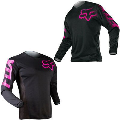 Fox Racing Youth Girls Moisture Wicking Performance Blackout Jersey Print Logo