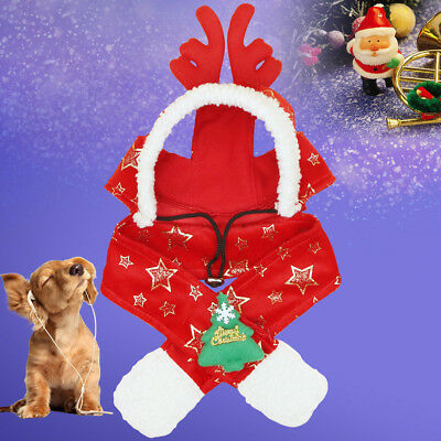 a6183f9735154 Christmas Pet Antler Hat Stuffed Puppy Dog Cat Soft Xmas Cap Costume  Accessories