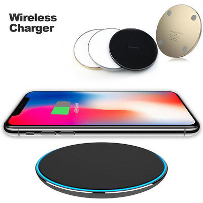 USA Slim Qi Wireless Fast Charger Charging Pad For iPhone X 8 Note 8 S7 S8 se