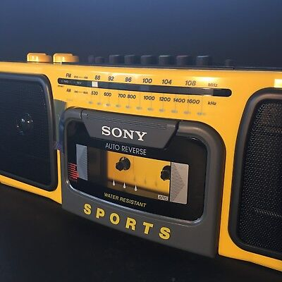 Sony CFS-930 Sports AM/FM Cassette Recorder Player Water Resistant New in Box