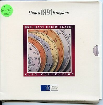1991 United Kingdom Brilliant Uncirculated Coin Collection Royal Mint - JB162