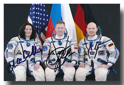 Soyus MS-09 crew handsigned 4x6 glossy - A. Gerst !! Curr. In space - 6g512