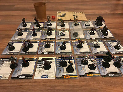 Star Wars Miniatures- Old Republic Komplette Armee- 34 Figuren, 9 Jedi, Bastila
