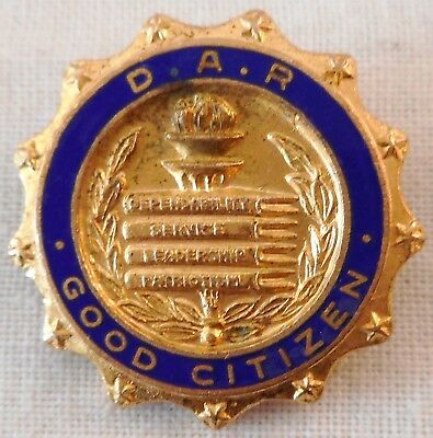 Vintage D.A.R. Good Citizen Pin Daughters of the American Revolution