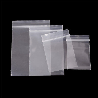 100Pcs 0.12mm Thick Selfseal Bags Resealable Plastic Zip Lock Packaging TCEA