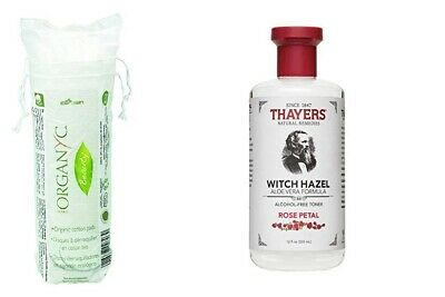 Thayers Alcohol-free Rose and Organyc 100% Organic Cotton Rounds
