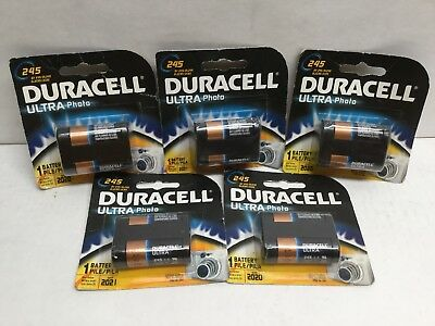 Duracell Lithium Ultra 245 Battery 6V DL245 EL2CR5/2CR5 (Lot of 5) EXP 2020/2021