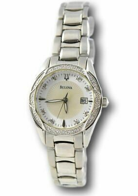 Bulova 96R133 Women's Diamond Accent Mother-Of-Pearl Dial Stainless Watch