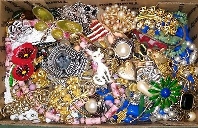 Huge Vintage To Now Junk Drawer Jewelry Lot Estate Find Unsearched Untested #833