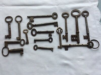 Collection Of Antique Large And Small Keys