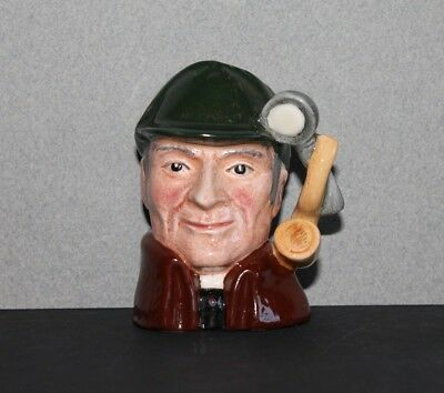"Royal Doulton England - The Sleuth - 2 1/2"" Toby Jug ~ D6639"
