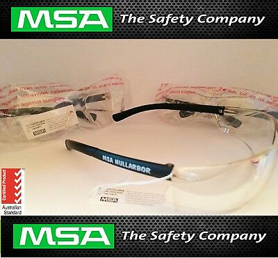 12 x MSA Nullarbor Safety Glasses | Clear | 400 UV Protection | RRP $ 179.98