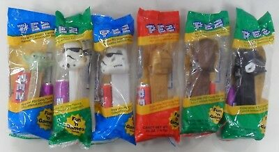 PEZ - Star Wars - 1997 Lot - Stormtrooper Yoda Darth Vader C-3PO Chewbacca