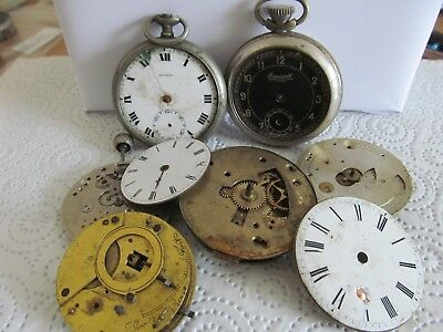 Antique and vintage pocket watches and movements for spare parts only