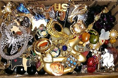 Huge Vintage To Now Junk Drawer Jewelry Lot Estate Find Unsearched Untested #834