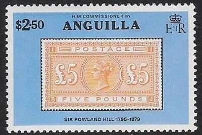 Anguilla 1979 Sir Rowland Hill $2.50 Stamp on Stamp, MNH - cw57.15
