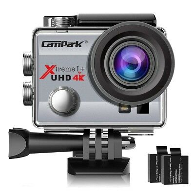 Campark ACT74 Action Camera 4K 30fps WiFi Ultra HD Waterproof Sports Action Cam,