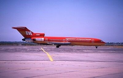 Braniff International Boeing 727 Orange colors N409BN - Original 35mm slide