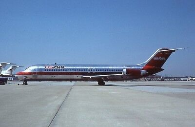 USAir Douglas DC-9-30 old colors N968VJ 1984 - Original 35mm slide