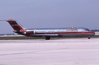 USAir Douglas DC-9-30 old colors N922VJ 1987 - Original 35mm slide