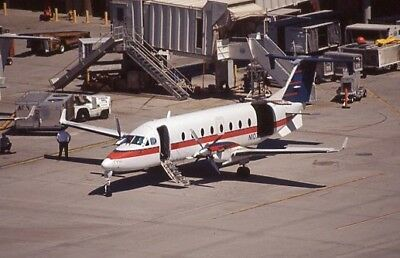 US Airways Express Beechcraft B-1900D old colors N107YV - Original 35mm slide