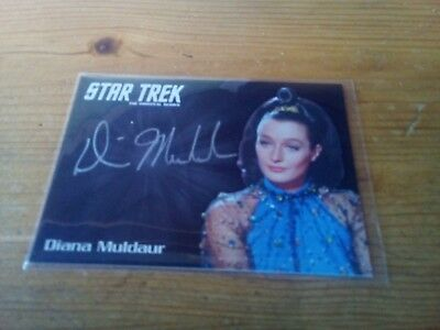 Star Trek Tos 50Th Anniversary ( Silver ) Autograph Card Of Diana Muldaur