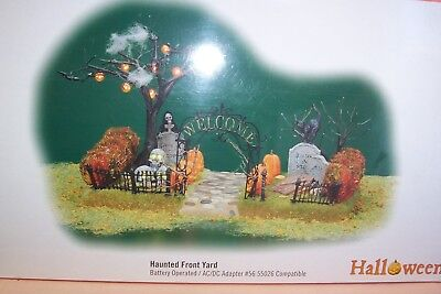 Dept 56 Halloween Village - Lighted HAUNTED FRONT YARD 52924