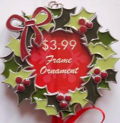 Glaze Painted Metal WREATH Picture Ornament HTF RARE NICE! Wilton Industries