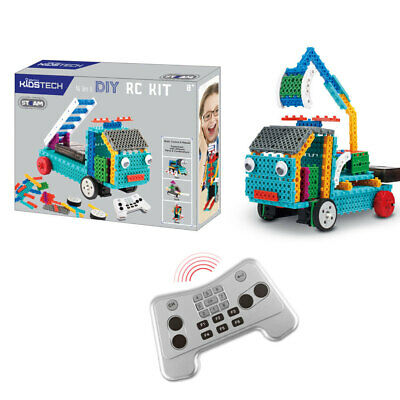 Vivitar DIY 4 in 1 RC Remote Control Truck/Train/Duck Robot Kit Kids Tech Toys