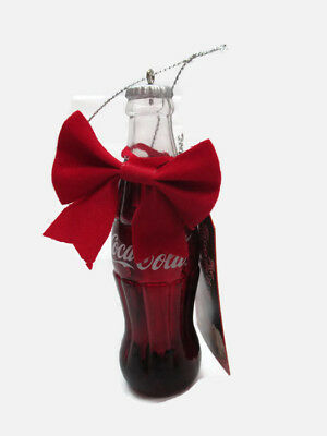 Coca-Cola Kurt S. Adler Bottle with Gift Tag Holiday Christmas Ornament