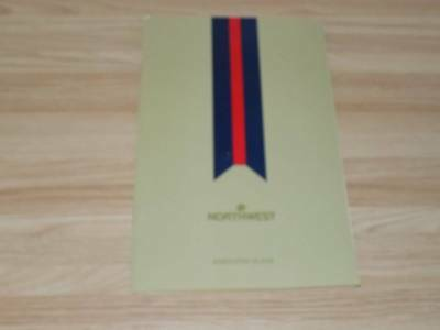 Vintage Olympics 1988 Northwest Executive Class Airlines Menu