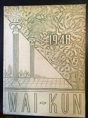 Vintage Hardin College 1948 Wai-Kun Yearbook