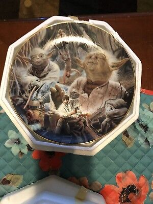 hamilton collection star wars plates Yoda