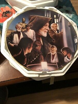 hamilton collection star wars plates Obi Wan Kenobi