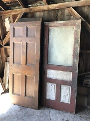 Set Of 10 Vintage Wood Doors Architectural Salvage Trim Paned Unpaned Panel a28