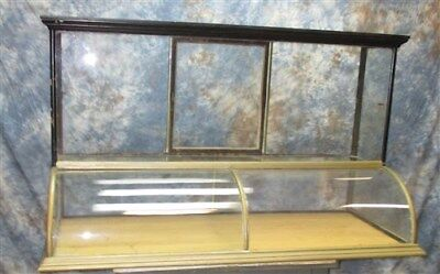 Showcase Nickel Plate Curved Front Country Hardware Store Jewelry Display Case c