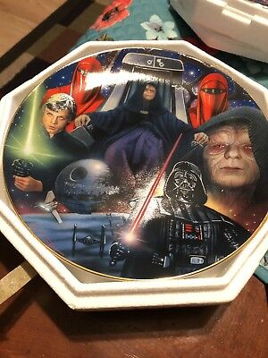 hamilton collection star wars plates The Emperor