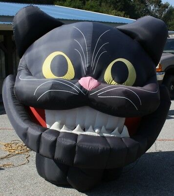 Halloween 6' Animated Black Cat Jaw Dropping Inflatable Airblown Gemmy