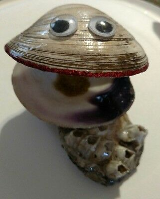 handcrafted whimsical seashell decoration