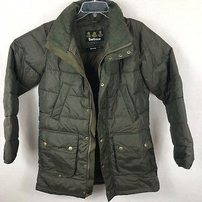 Barbour Mens Jacket Size L Fairford Olive Baffle Quilted Military