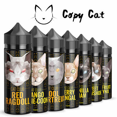 Cat Club Shortfill Aroma - Shake and Vape Liquid 10ml in 120ml Flasche Copy Cat