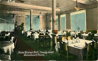 Beaumont, Texas, Crosby Hotel Dining Room, State Fair Ad, Vintage Postcard