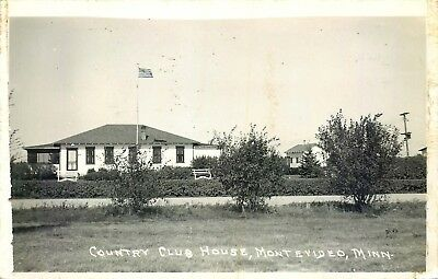 Montevideo, Minnesota, Rppc, Country Club House, Vintage Postcard