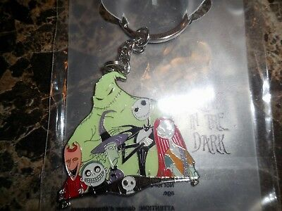 Disney Store Car Key Chain Nightmare Before Christmas Glow in the Dark Free Ship