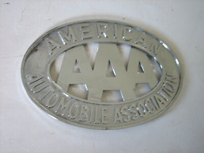 Vtg American Aaa Automobile Association  License Plate Emblem Car Topper