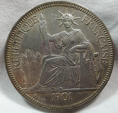 1901 A French Indo-China Piastre KM 5a.1
