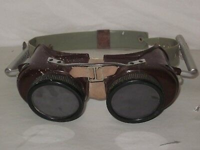VINTAGE GLENDALE OPTICAL Co SAFETY WELDING GOGGLE GLASSES