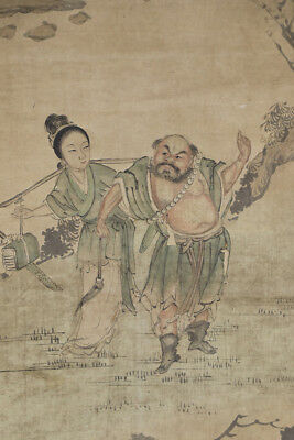 CHINESE HANGING SCROLL ART Painting  Asian antique  #E4336
