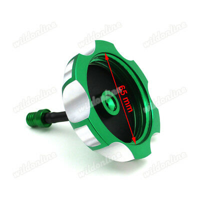 CNC Billet Green Gas Fuel Tank Cap Cover For KAWASAKI KX250F KX450F 2006-2015